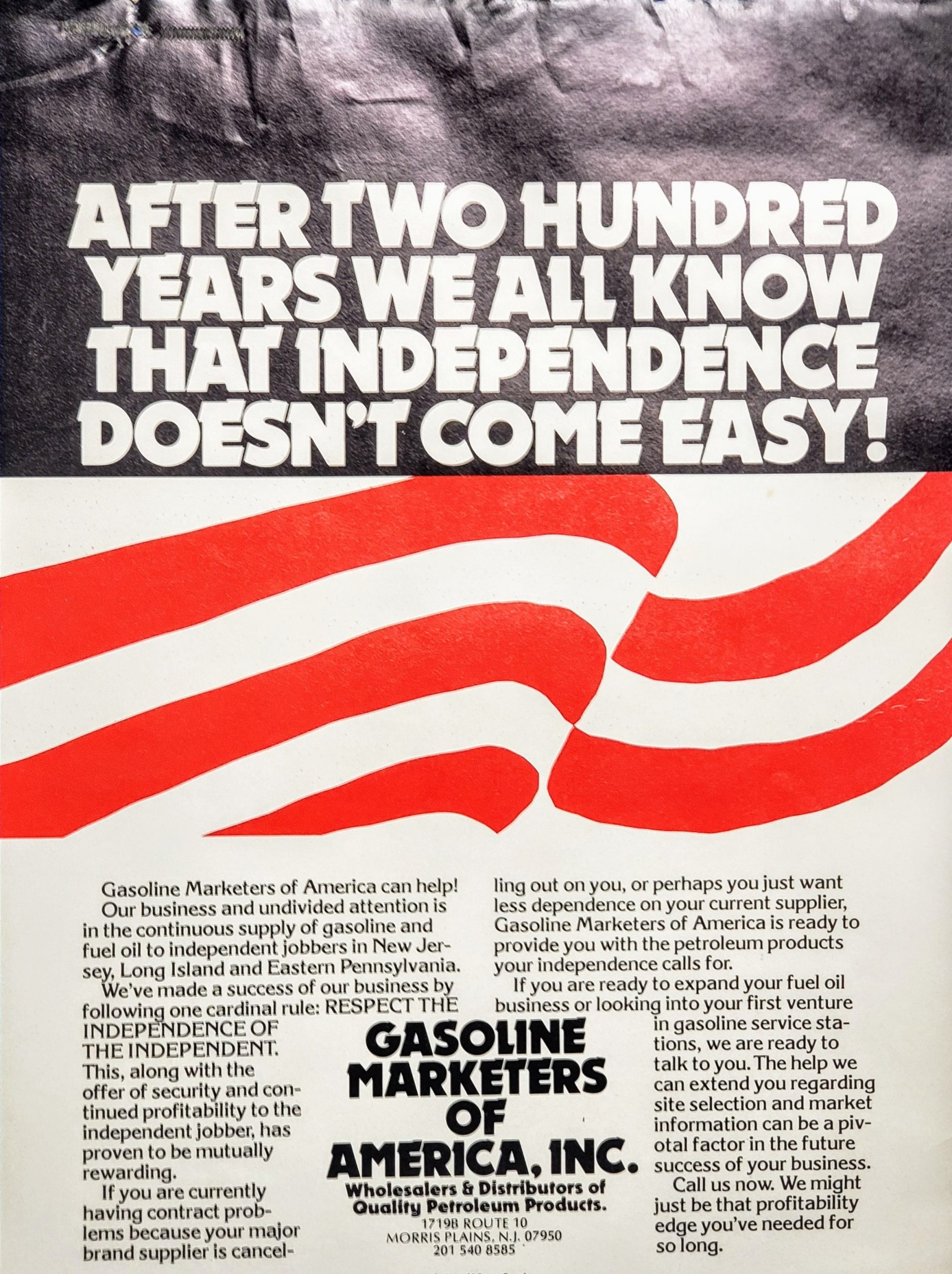 gasoline marketers of america_200 years_ad_1